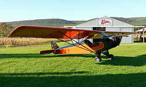 Taylor Cub - Taylor E-2 Cub at the Golden Age Air Museum in Bethel, Pennsylvania.
