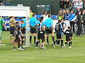 Teams come out at Union at Earthquakes 2010-09-15 2.JPG