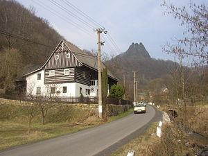 Vrabinec von Přední Lhota gesehen