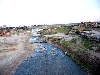 Teleajen river in Romania