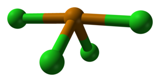 Tellurium tetrachloride - Image: Tellurium tetrachloride GED 1997 3D balls