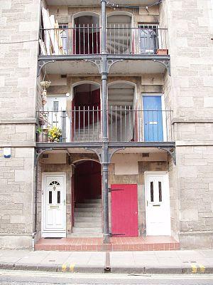 Abbeyhill - Tenement flats