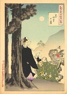 月岡芳年「花山寺の月」(/wikipediaより引用