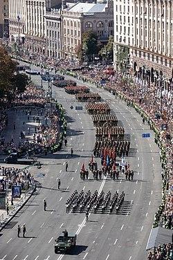 Военный парад в Киеве, 2018 год