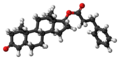 Testosterone phenylpropionate molecule ball.png