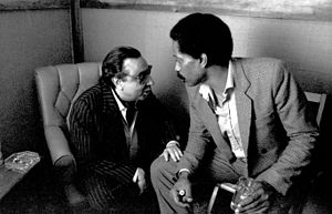 Tete Montoliu - Montoliu (left), with Bobby Hutcherson at Kuumbwa Jazz Center, Santa Cruz, California, 14 May 1984