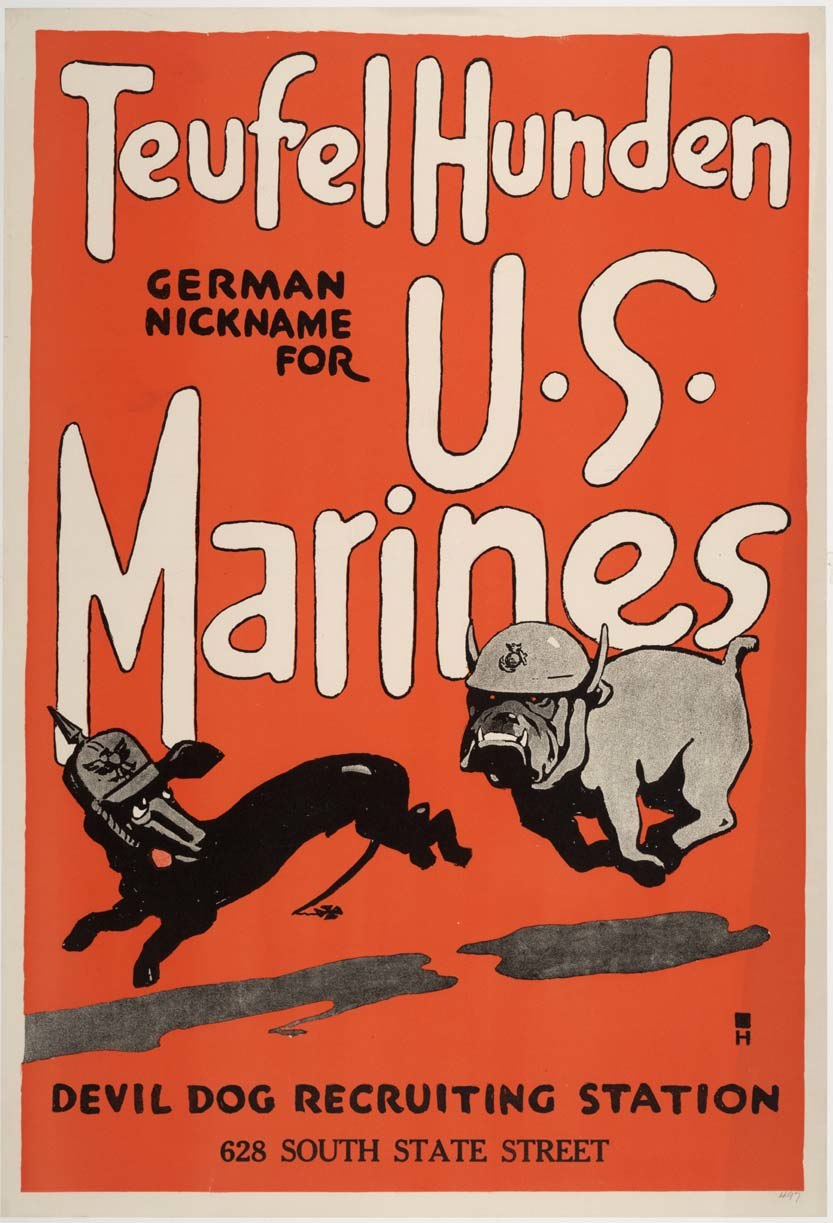 Teufel Hunden US Marines recruiting poster