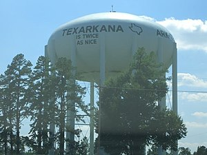 Water Tower in Texarkana, Texas.