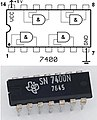 TexasInstruments 7400 chip, view and element placement.jpg