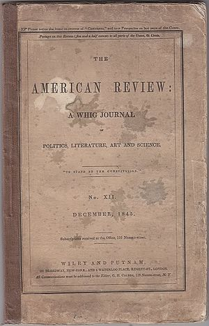 "The Facts in the Case of M. Valdemar - The story appeared as ""The Facts of M. Valdemar's Case"" in The American Review, December, 1845, Wiley and Putnam, New York."