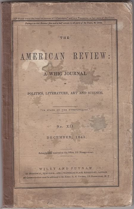 The American Review December, 1845 Poe