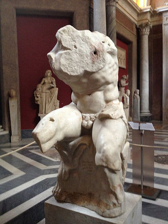Ajax the Great - The Belvedere Torso, a marble sculpture carved in the first Century BC depicting Ajax.