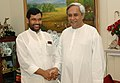 The Chief Minister of Orissa, Shri Naveen Patnaik calls on the Union Minister of Chemicals & Fertilizers and Steel, Shri Ram Vilas Paswan, in New Delhi on August 08, 2007.jpg