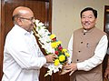 The Chief Minister of Sikkim, Shri Pawan Chamling meeting the Union Minister for Social Justice and Empowerment, Shri Thaawar Chand Gehlot, in New Delhi on November 24, 2015.jpg