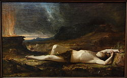 The Dead Abel by Thomas Cole, 1831-1832, oil on paper mounted on wood panel - Albany Institute of History and Art - DSC08083.JPG