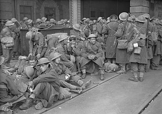 Dunkirk evacuation - Troops arrive back in Dover following the evacuation of British troops from Dunkirk