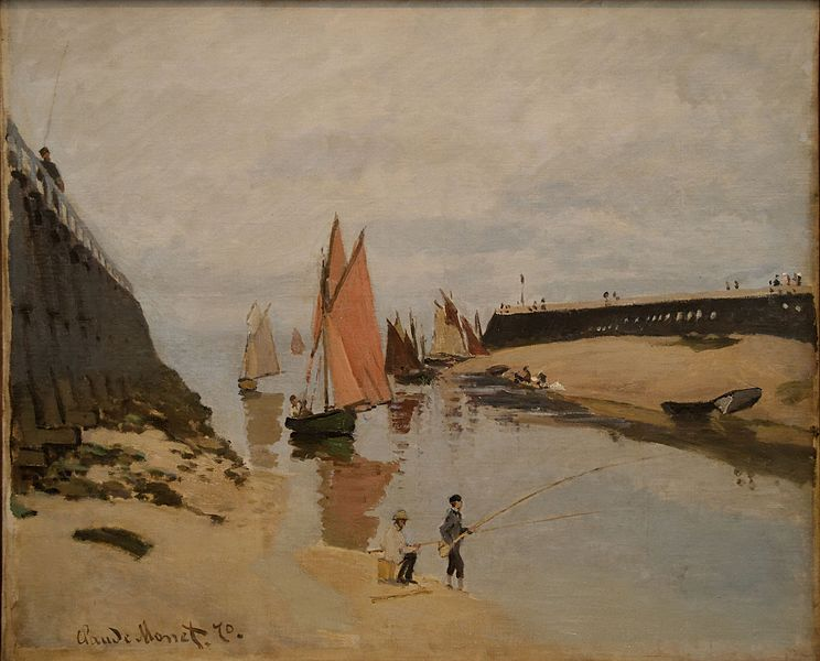 File:The Harbour at Trouville Claude Monet.jpg