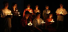 the laramie project vigil scene from the laramie project