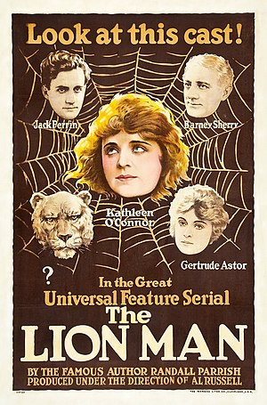 The Lion Man (serial) - Theatrical poster to The Lion Man