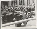 The Lord Mayor of Hobart, Sir Richard Harris-the Queen-Tasmania, 1954..jpg