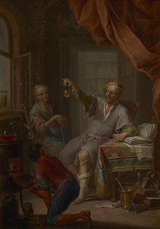 Uroscopy - Image: The Medical Alchemist by Janneck FA.2000.00.275