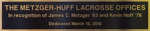 The Metzger-Huff Lacrosse Offices Plaque - Hofstra University.jpg