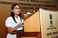 The Minister of State for Rural Development, Ms. Agatha Sangma addressing at the Workshop on 'Accelerating Rural Development and Strengthening Local Self Governance', organized by the Ministry of Rural Development.jpg