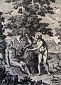 The Phillip Medhurst Picture Torah 16. Temptation of Adam and Eve. Genesis cap 3 v 6. Haumann.jpg