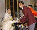 The President, Smt. Pratibha Patil presenting the Arjuna Award -2006 to Shri Navneet Gautum for Kabaddi at a glittering function, in New Delhi on August 29, 2007.jpg