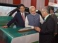 The Prime Minister, Shri Narendra Modi and the Prime Minister of Japan, Mr. Shinzo Abe visit the Exhibition, at Mahatma Mandir, in Gandhinagar, Gujarat on September 14, 2017 (1).jpg