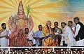 The Prime Minister, Shri Narendra Modi being felicitated at the Dashamah Soundarya Lahari Parayanotsava Mahasamarpane, in Bengaluru, Karnataka.jpg