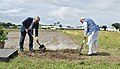 The Prime Minister, Shri Narendra Modi breaks ground for resilient rice field laboratory, at the International Rice Research Institute (IRRI), in Los Banos, Philippines on November 13, 2017.jpg