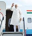 The Prime Minister, Shri Narendra Modi emplanes for Gangtok from Ranchi, Jharkhand on September 23, 2018.JPG