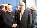 The Prime Minister, Shri Narendra Modi meeting the President of the Republic of Suriname, Mr. Desi Bouterse, on the sidelines of the Sixth BRICS Summit, at Brasilia, in Brazil on July 16, 2014.jpg