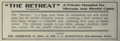 """The Retreat, Inc. (""""American medical directory"""", 1906 advert).png"""