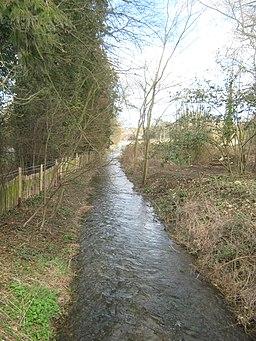 The River Nailbourne towards Barham - geograph.org.uk - 1778111