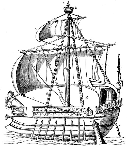 The Royal Navy, a History from the Earliest Times to Present Volume 1 - Chapter 1 A ROMAN WARSHIP (LATER PERIOD).jpg