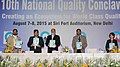 The Secretary, Department of Industrial Policy and Promotion (DIPP), Shri Amitabh Kant releasing the publication at the inauguration of the 10th National Quality Conclave, organised by the Quality Council of India.jpg
