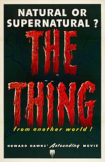 <i>The Thing from Another World</i> 1951 US science fiction film by Christian Nyby