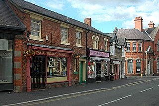 Wem town in Shropshire, England