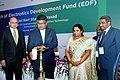 "The Union Minister for Communications & Information Technology, Shri Ravi Shankar Prasad lighting the lamp to launch the ""Electronic Development Fund"", in Mumbai on February 15, 2016.jpg"