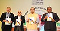 The Union Minister for Finance, Corporate Affairs and Information & Broadcasting, Shri Arun Jaitley releasing a publication at the Seminar on Focus Africa, organised by the Export-Import Bank of India.jpg