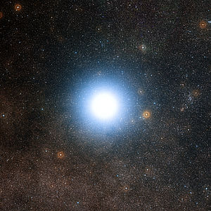 Alpha Centauri - View of Alpha Centauri from the Digitized Sky Survey 2