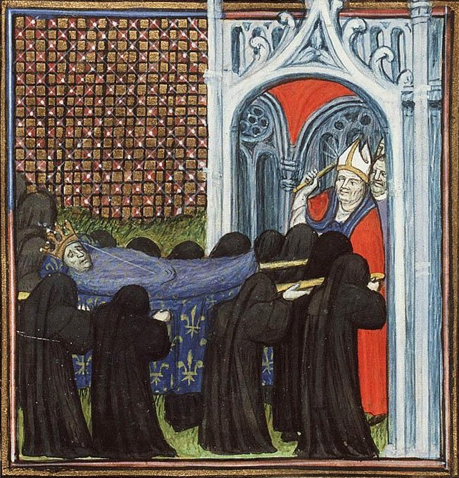 The funeral procession of Jean II