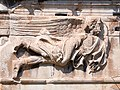 The relief panels in the frieze of the Tower of the Winds. The wind god Eurus.jpg