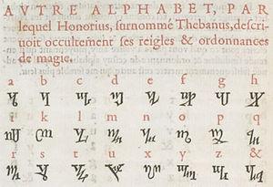 Theban alphabet - Image: Theban