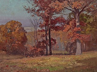 When the Oaks are Red (Brookville Landscape)