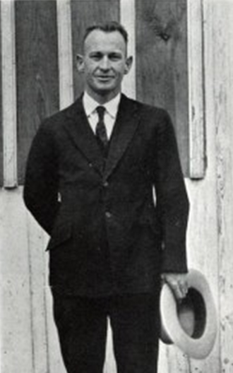 Theron J. Fouts - Fouts pictured in The Yucca 1922, North Texas State Normal yearbook