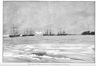 Lady Franklin Bay Expedition - Thetis, Arctic, Aurora, and Bear