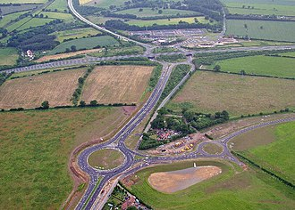 A11 road (England) - Thickthorn Interchange between the A47 and A11.